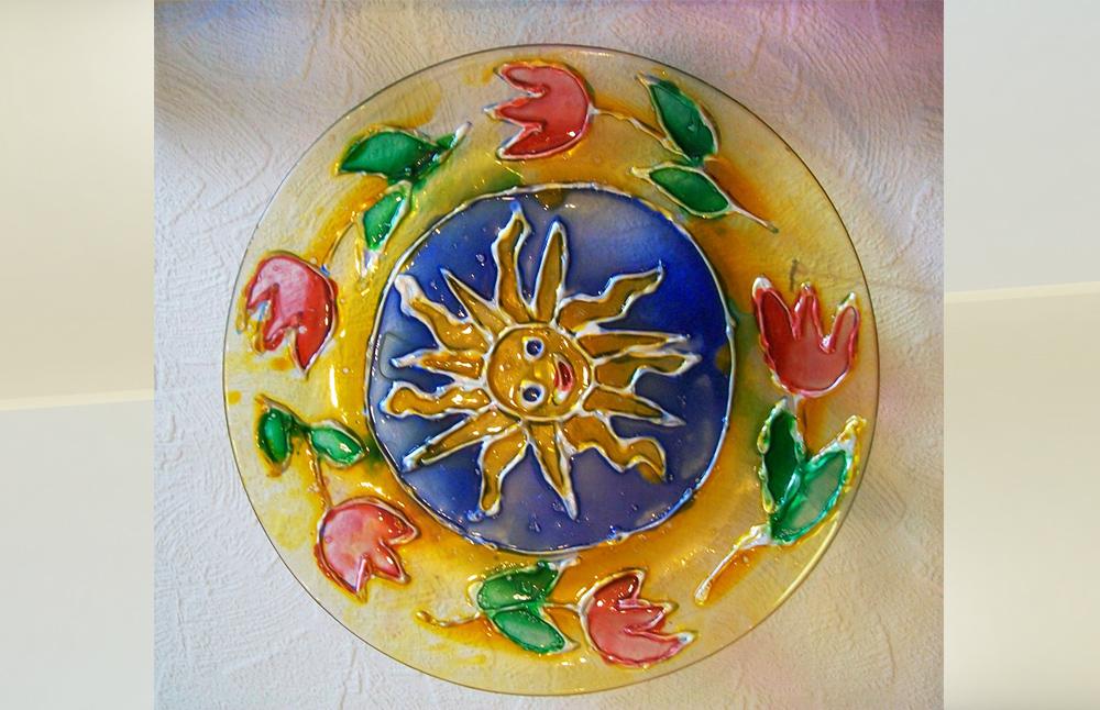 Роспись по стеклу витражными красками рисунки